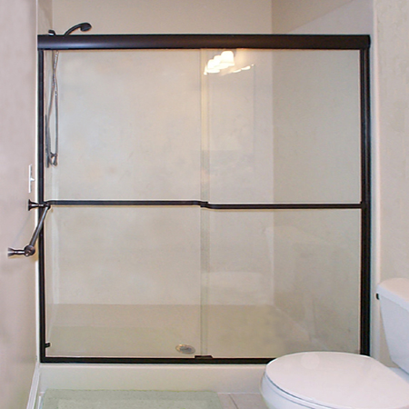 Bikini Bypass Shower with Pressure Fit Towel Bars