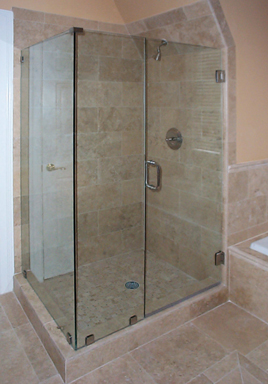 Frameless Door, Inline Panel and 90 Full Return