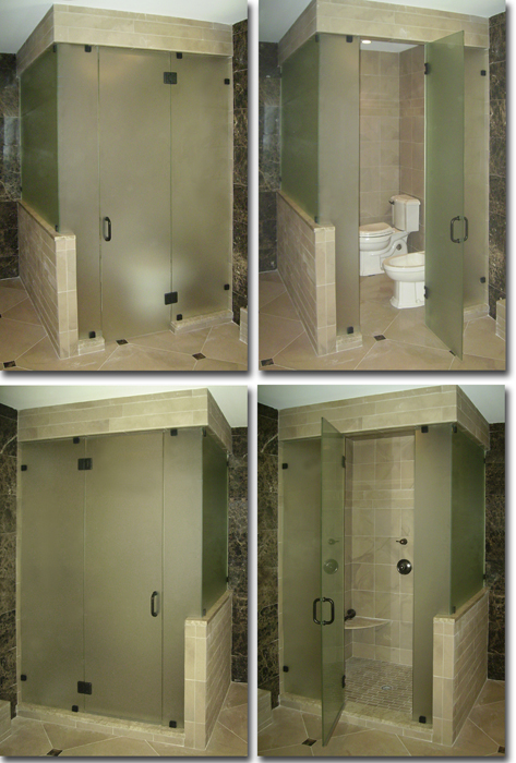 Frameless Steam Shower and Toilet Room