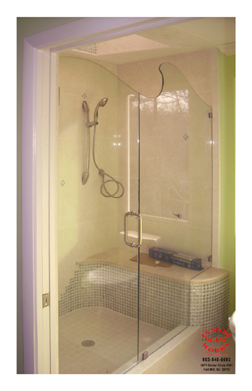 Frameless Wave Top Shower 2