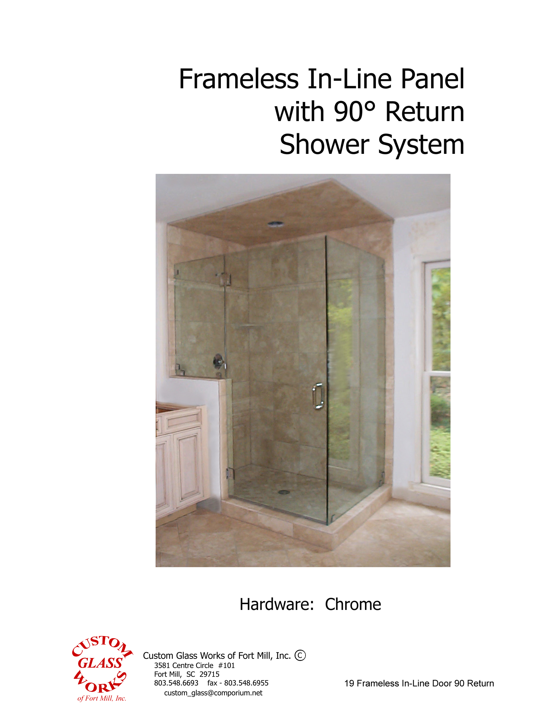 19 Frameless In-Line Door 90 Return