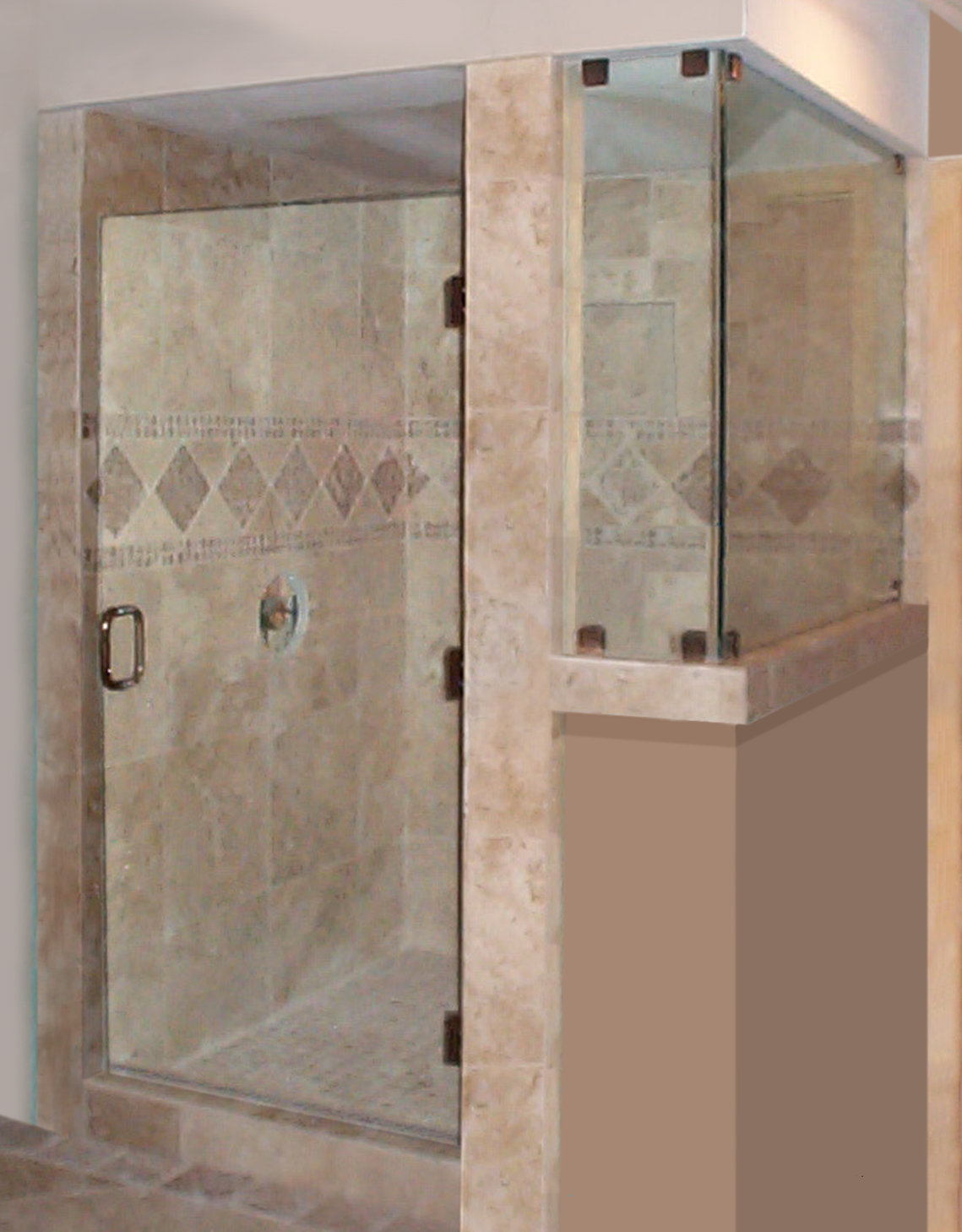 Frameless  Door Tile Post Return