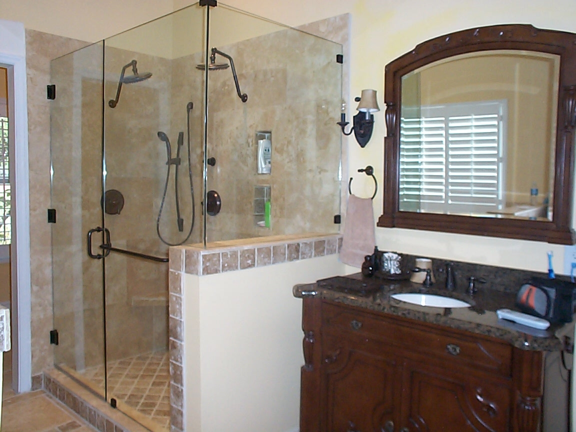 Nice dark hardware sink framed mirror