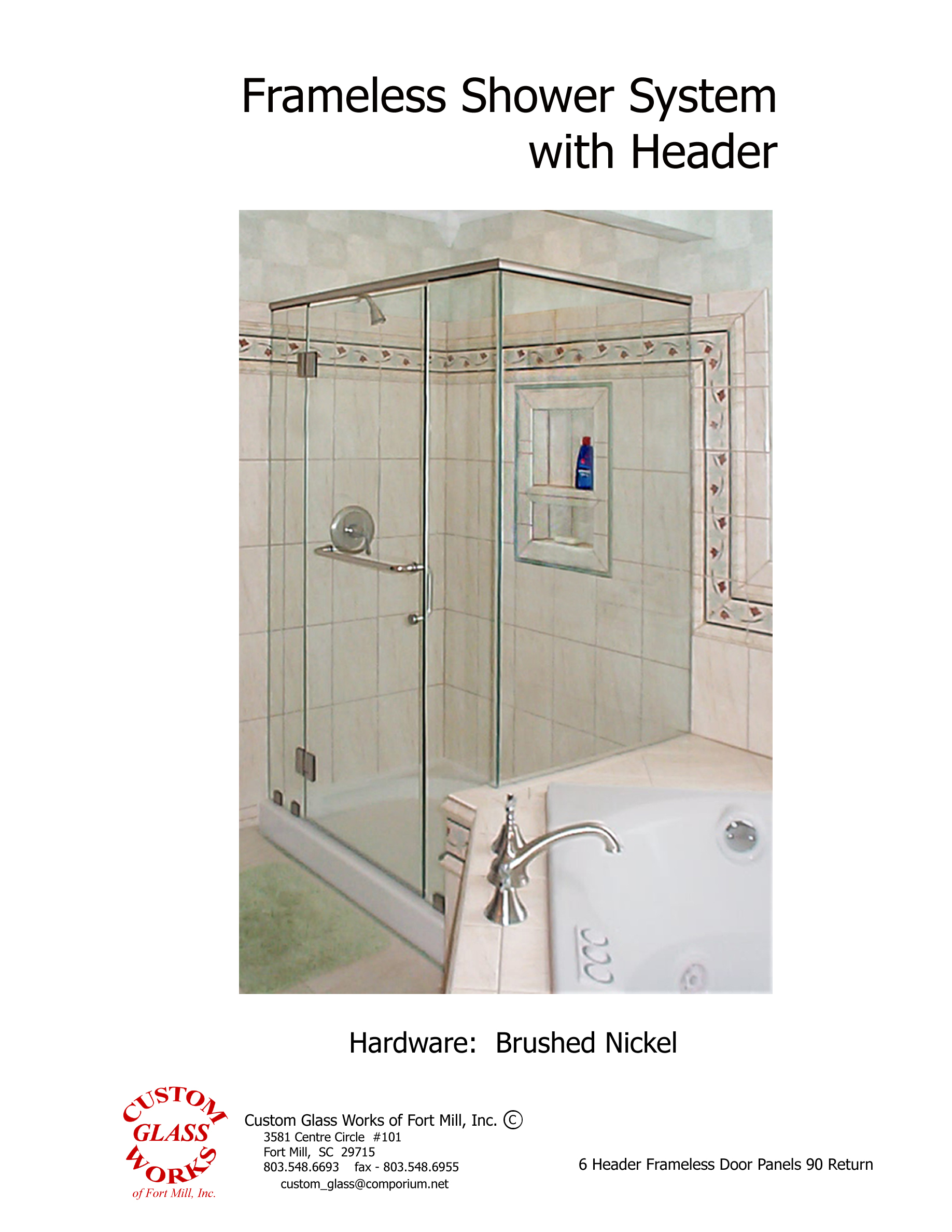 6 Header Frameless Door Panels 90 Return
