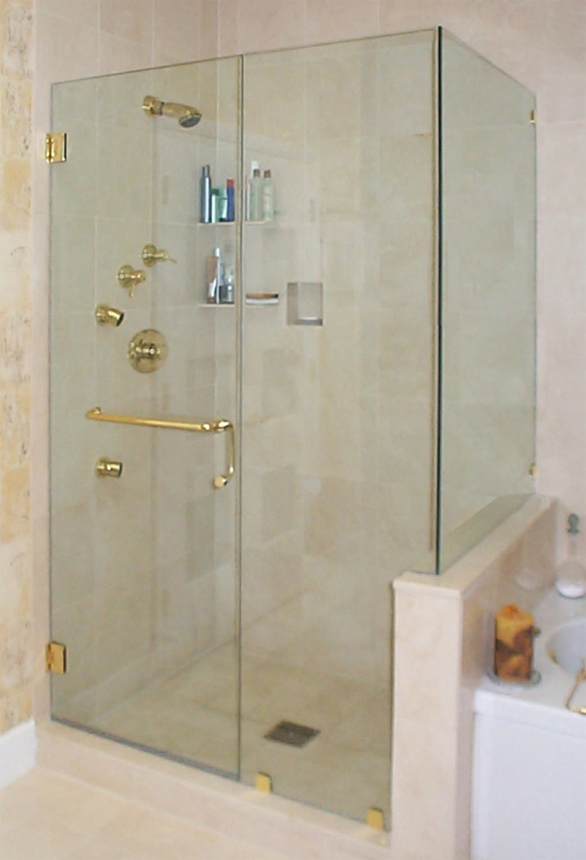 Knee Wall Frameless Door Inline 90 Return