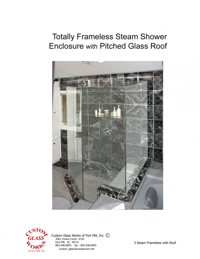 Step-Up Steam Frameless with Roof