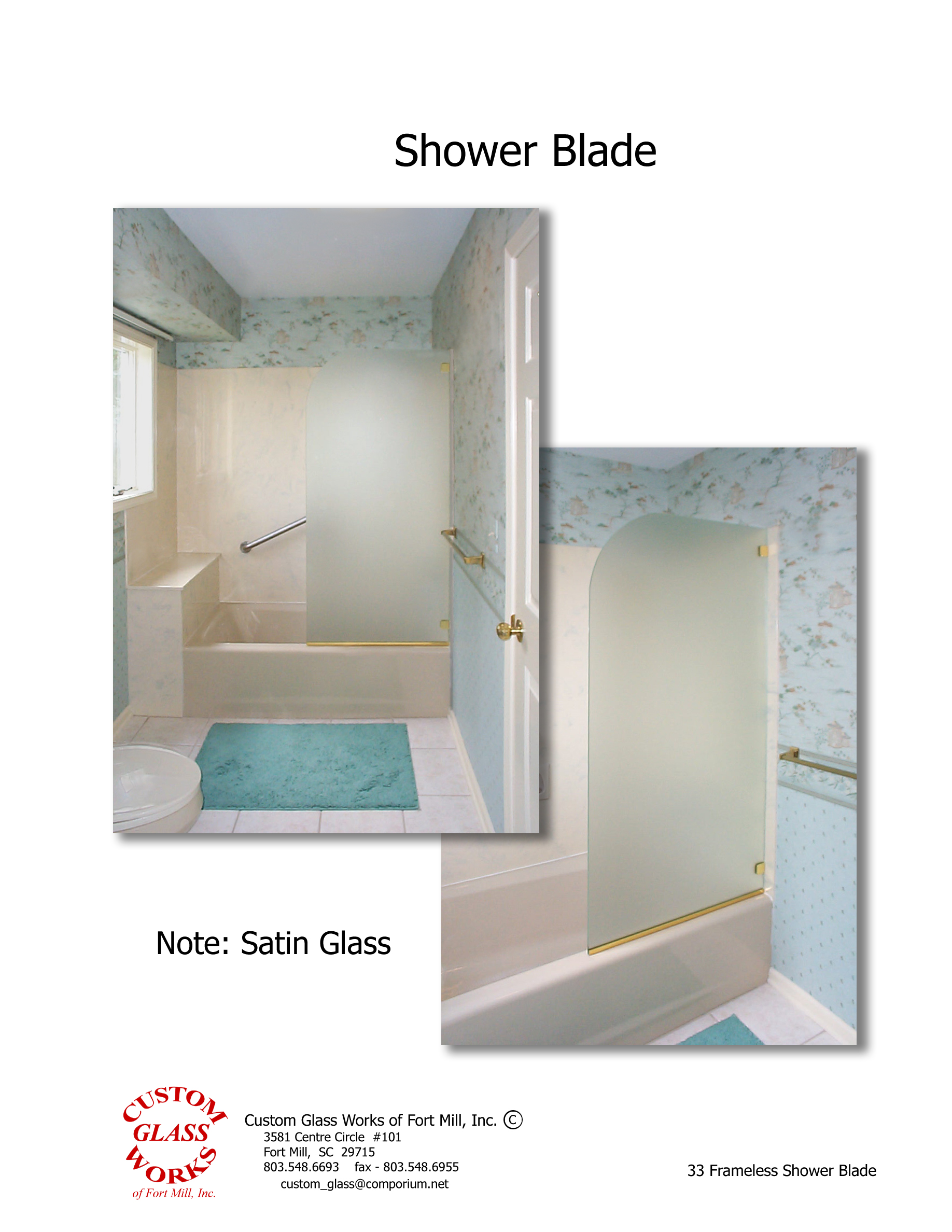33 Frameless Shower Blade