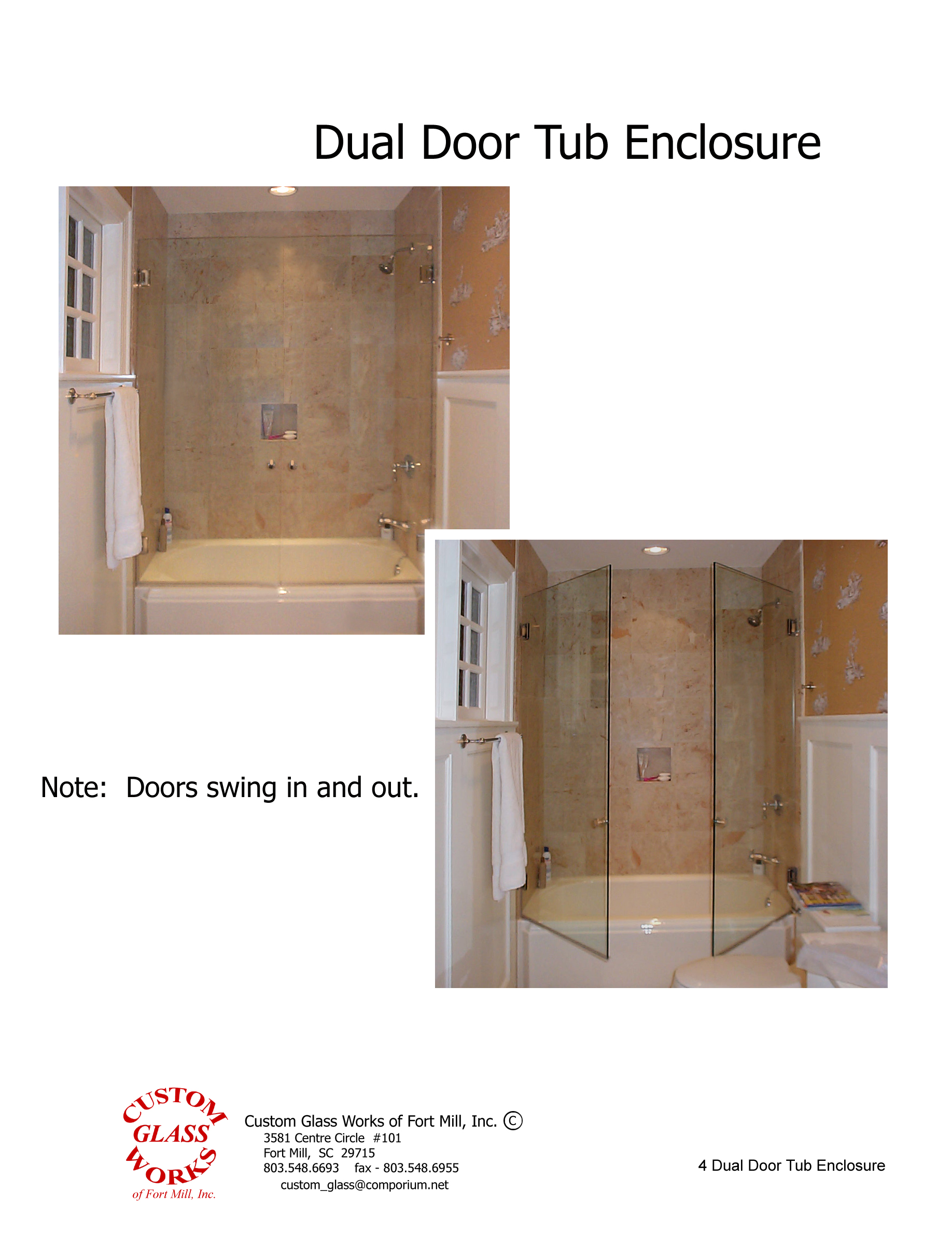 4 Dual Door Tub Enclosure